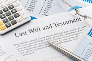 Close up of a Will document