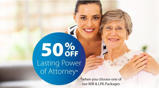 Half price Lasting Power of Attorney