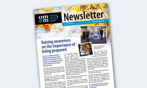 OMM autumn newsletter