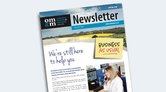 OMM Newsletter Spring 2020